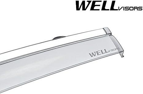 WellVisors Side Window Visors Chrome Trim Deflectors For ROUGE SPORT 2017-Up