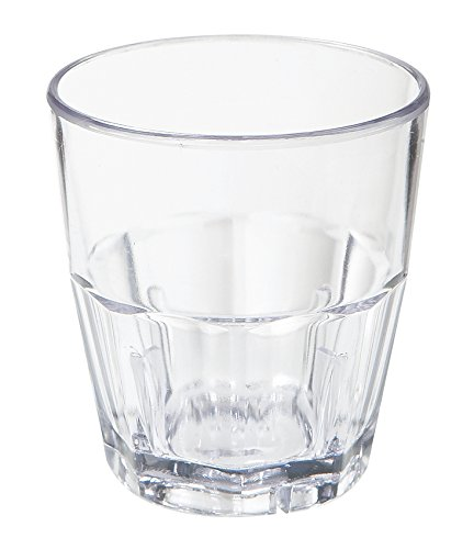 5.5 oz. Clear Tumbler, SAN Plastic Bahama Tumblers by GET 9955-1-CL-EC (Pack of 4)