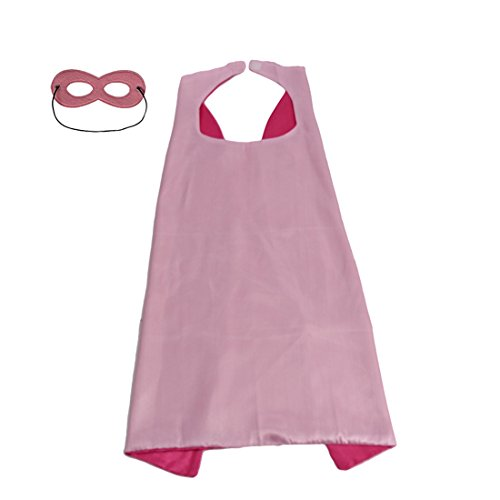 Whoopgifts Reversible Kids, Adult, Men, Women Superhero Cape with Mask (S21.5 L x 27.5
