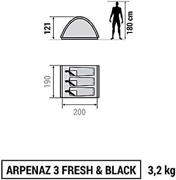 Decathlon - Tienda de campaña Arpenaz Camping Family, Hombre, ARPENAZ 3 FRESH & BLACK: Amazon.es: Deportes y aire libre