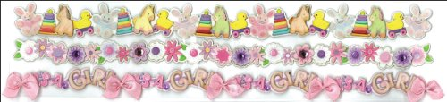 Jolee's Boutique Dimensional Border Stickers, It's A Girl