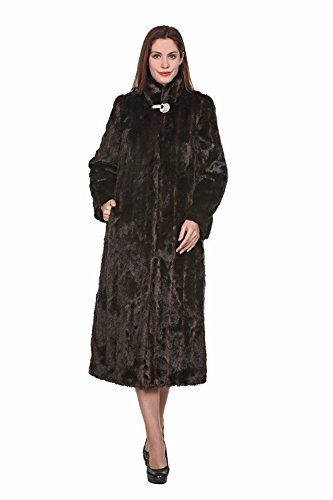 - Adelaqueen Women Black & Brown Elegant and Vintage Outerwear Mink Fabulous Faux Fur Coat Size XS