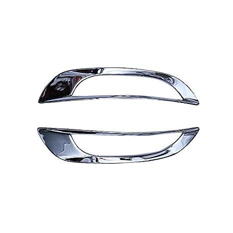 ABS cromado trasera antiniebla Luz Lámpara de Coche 2pcs para coche accesorios: Amazon.es: Coche y moto