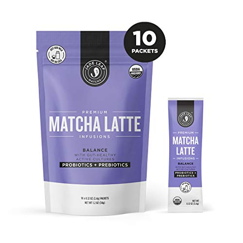 Jade Leaf Matcha Latte Infusions - BALANCE - Probiotics + Prebiotics - 10ct Single Serves