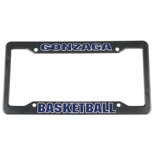 NCAA Gonzaga Bulldogs Basketball Plastic License Plate Frame - Black