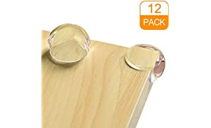 Corner Protector, Baby Proofing Table Corner Guards, Keep Child Safe, Protectors for Furniture Against Sharp Corners (12 Pack) by CalMyotis