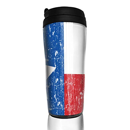 Wodehous Adonis Distressed Texas Flag Fashion Insulated Traveler Coffee Mug Tumbler Stainless Steel Coffee Cup 12 -