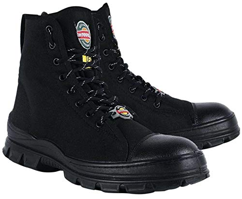 Liberty Warrior 88-46HSTG Jungle Boot for Men, Mens Canvas Boot (Available in 5 UK to 11 UK, Black & Olive Green)