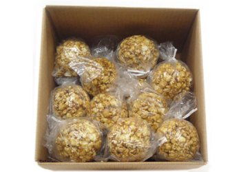 Popcorn Balls For Halloween - Box of 25 Caramel Popcorn