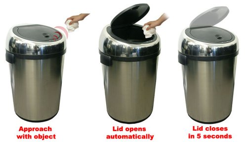 iTouchless Commercial Size Stainless Steel Trashcan, 23 Gallon (85 Liter)