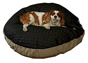 B00186RCX8S3O Snoozer Quiltie Round Pet Bed, Large, Black