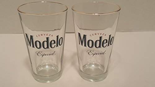 Modelo Especial Gold Rimmed Pint Glass - Set of - Modelo Gold