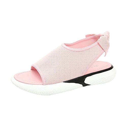 Peep Low Wedge Wide Size for Platform Slingback Heel Open Fit Gladiator Women Sandals Roman Summer Ladies Lolittas Outdoor Pink 2 7 Toe Pantshoes HqCxPEwO0q