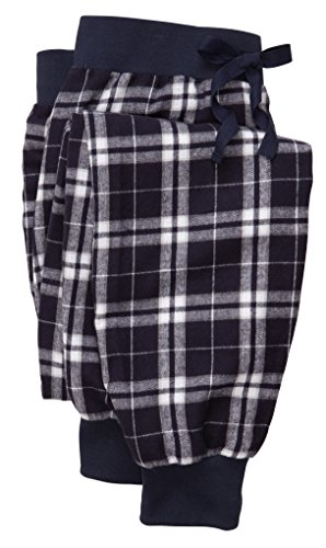 (boxercraft Jogger Pant Tailgate - Cotton Flannel, Black/White.)