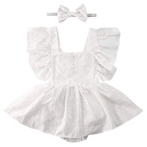Lace Bowknot Bodysuits Sunsuits Baby Ruffle Jumpsuit Outfits Haokaini Newborn Summer Sleeveless Romper