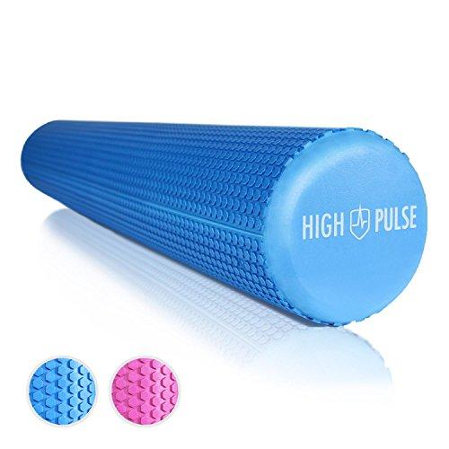 High Pulse Pilates-Rolle - Die multifunktionale Schaumstoff-Rolle ideal zur Massage, Gymnastik und Muskelkräftigung, 90x15cm (Blau)