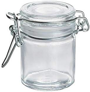 Mini bocal joint blanc 4,5 cl (x12): : Cuisine & Maison
