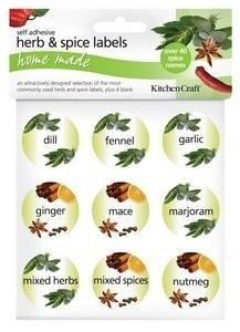 Set of 45 Kitchen Craft Sticky Herb & Spice Labels: Amazon