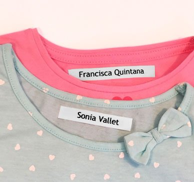 100 Personalised Iron On Fabric Labels To Mark Your