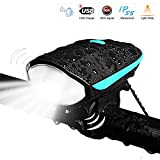 LETOUR Bike Light USB Rechargeable Bicycle Lights Ultra Bright LED 12W Waterproof LED Portable Lights 3 Brightness Mode with Speaker Fits All Bicycles& Mountain Hybrid Road MTB for Adults and Children, Easy Install & Quick Release