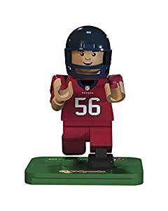 NFL GEN3 Houston Texans Brian Cushing Limited Edition Minifigures, Blue, Small