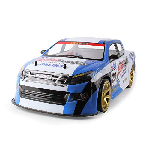 TANGON Brushless RC Short Course Truck, Super Duty High Speed Off-Road RC Car Double Battery 2.4GHz 4WD 1:10 Scale Remote Control Vehicles RTR (Blue)