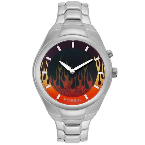 Amazon.com: Fossil Mens JR8115 Digital Flame Display Bracelet Watch: Watches