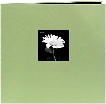"Pioneer  Book Cloth Cover Post Bound Album 8/""X8/""-Citrus Green"