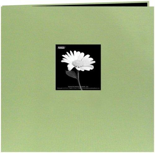 Pioneer Book Cloth Cover Post Bound Album 8x8-Sage Green