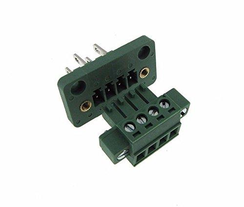 4-Pin 3.81mm Screw Terminal Block Plug Shrouded Flange - Panel Mount