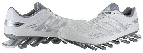 Adidas Springblade Barbermaskine Sneakers - Herre Running Hvid / Metallisk Sølv / Grå gjWsJj
