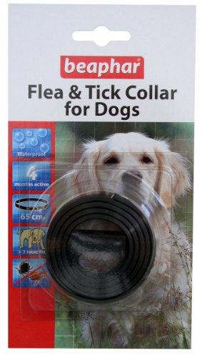 Beaphar UK Ltd Beaphar Hund Kunststoff Floh & Zeckenhalsband verschiedene Farben 60cm