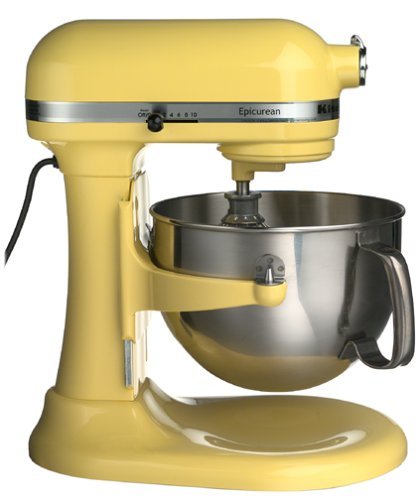 kitchenaid epicurean bread factoryreconditioned kitchenaid epicurean mezclador amarillo majestuoso