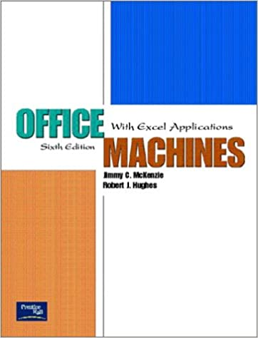 Office machines with excel applications 6th edition jimmy c office machines with excel applications 6th edition 6th edition fandeluxe Images