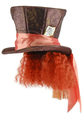 The Mad Hatter Costume (Alice in Wonderland Mad Hatter Hat with Hair, Disney)