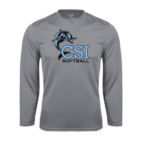 College of Staton Island Performance Steel Longsleeve Shirt Softball