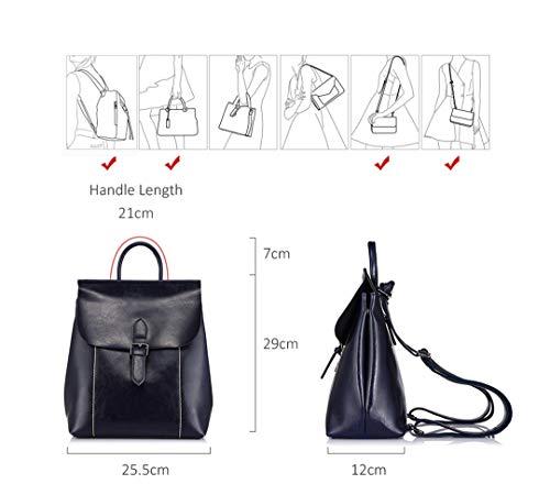 mode grande les dames les de capacité en sac en met adolescentes cuir dos Black d'école fendues de sacs sacs Les de X4waa