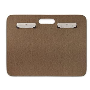 Saunders 05609 Recycled Hardboard Sketchboard – Brown, 19 in. x 12.25 in. Clipboard with Built-in Handle – Solid Drawing Board for Artists, Students, and Creatives