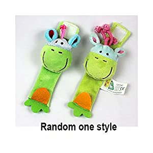 Dearmy Infant Baby Wrist Bands Rattles Toys, Baby Rattles, Cute Plush Animal Wrist Rattles Set, Appease Comfort Early…