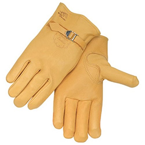 Elkskin Leather - Black Stallion 17A Premium Grain Elkskin Driving Gloves, Large
