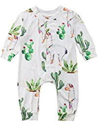 ecbc793dda8f Baby Boys Girls Cactus Pattern 100% Cotton Baby Boy Girl Zip up Sleep Play