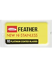 The Goodfellas' smile Feather Hi Stainless Double Edge Rakblad, Paket med 30