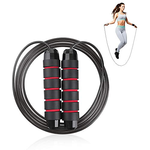 Jump Ropes for Fitness – Workout Jump Ropes for Women, Men, and Kids, – Premium Quality Non-Tangle Exercise Rope for…