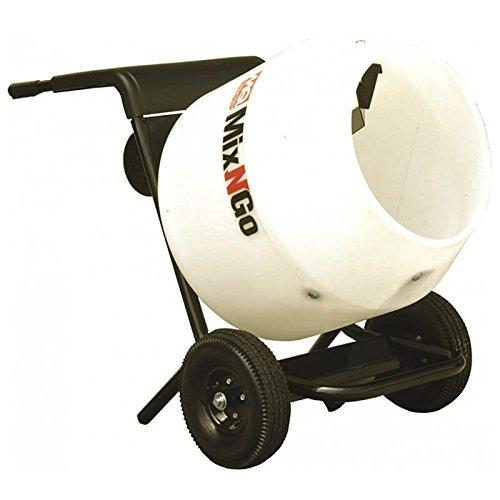Multiquip MC3PEA Concrete Mixer, Mix-N-Go, Poly Drum, 115V, 3cf Drum Capacity
