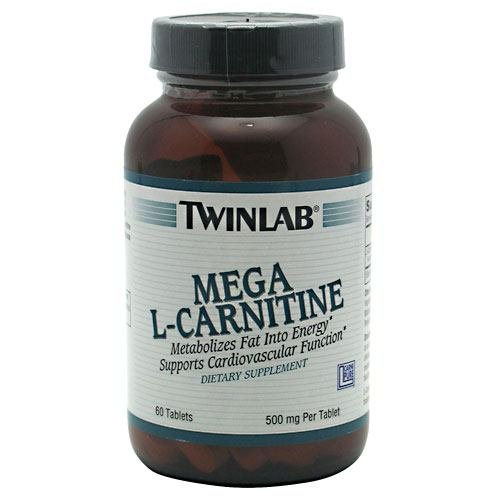 L Carnitine 500Mg,Mega By Twinlab - 90 Tab, Pack of 3