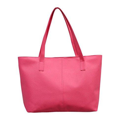 Sale Clearance Women Handbag Halijack Ladies Soft Handle Hasp Shoulder Bags Tote Tassels Bag Casual PU Leather Bag Messenger Bags Elegant Shopping Large Capacity Crossbody Bags Hot Pink