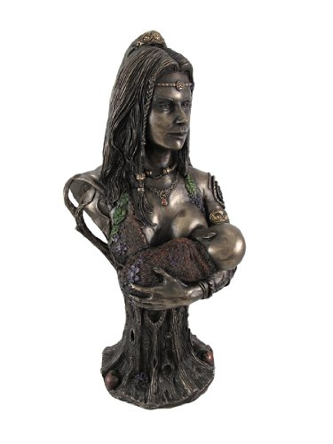 Bronze Breastfeeding Goddess Danu Mother Earth Bust Statue by Things2Die4 -  Unicorn Studios, WU75713A4
