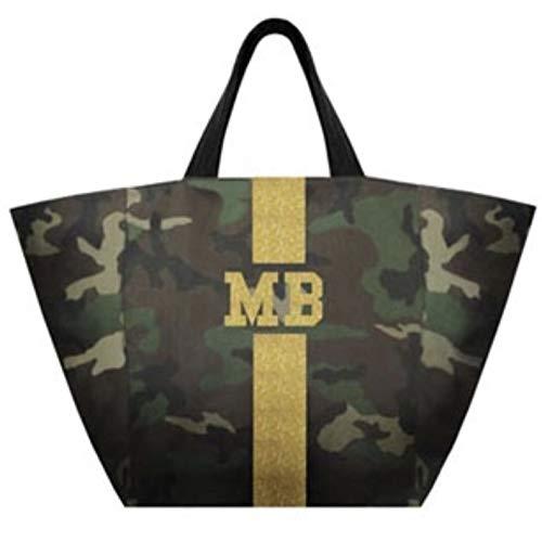 MIA BAG ミアバッグ カスタマイズバッグ カモフラージュショッパーM ラメゴールドライン 851830025 B07QGMZ5VQ