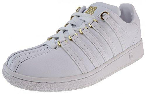K-Swiss Classic VN 50TH 50Th White Gold Damen_Sneaker, Groesse:42.0_us10.0_uk08.0_cm26.0w
