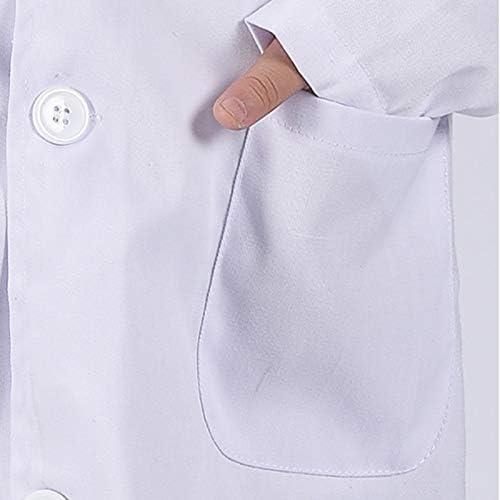 Majome 1 Unids Ni/ños Enfermera Doctor White Lab Coat Uniforme Rendimiento Superior Traje M/édico
